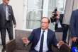 Former French president Francois Hollande gestures as he poses in Angouleme on August 22, 2017 during the 10th francophone film festival of Angouleme. / AFP / Yohan BONNET