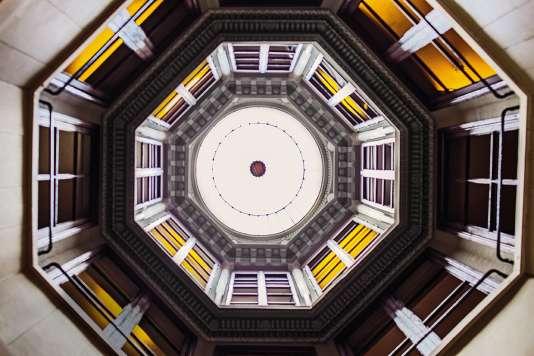 La Maison de l'armateur est construite autour d'un puits de lumière octogonal.