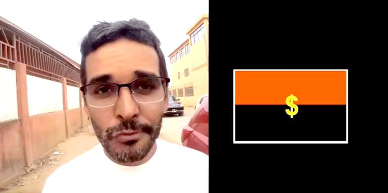 Image extraite du clip « Se Bond4 Sozinh4 », de Luaty Beirao, mis en ligne le 17 juillet 2017 sur YouTube.