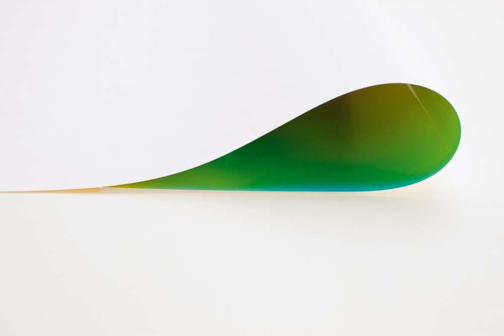 « Paper Drop (green) II », 2013.
