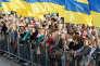 Lors d'une cérémonie pour la Journée du drapeau national, le 23 août, à Kiev, à la veille de la Journée de l'indépendance.