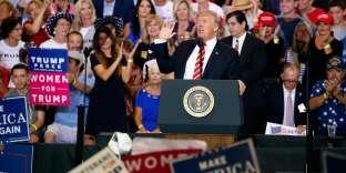 Donald Trump lors de son discours à Phoenix dans l'Arizona, le 22 août.