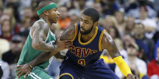 Kyrie Irving face à Isaiah Thomas.