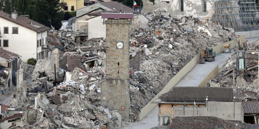Le séisme d'Amatrice avait tué près de 300personnes et en avait blessé 400autres, le 24août 2016.