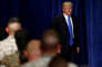 Le président américain Donald Trump annonce sa stratégie pour l'Afghanistan et l'Asie du Sud, à Fort Meyer (Virginie), le 21 août.
