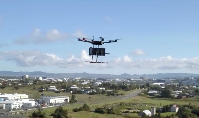 Un drone au-dessus de Reykjavik