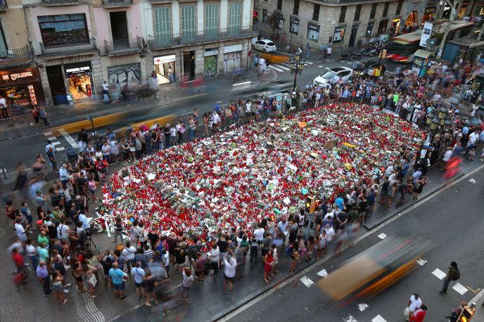Sur les Ramblas à Barcelone, le 24 août.