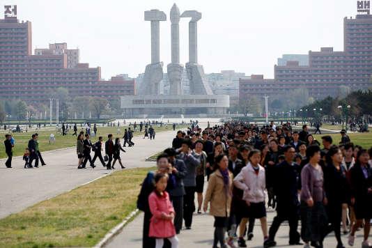 A Pyongyang, le 16 avril.