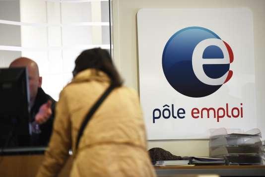 Dans une agence de Pôle emploi à Montpellier, en avril 2016.