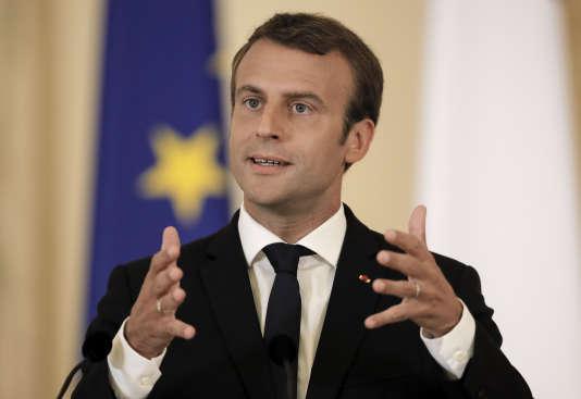 Emmanuel Macron, le 24 août 2017 à Bucarest.