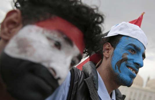 Rassemblement de soutien à Ali Abdallah Saleh, à Sanaa, le 24 août.