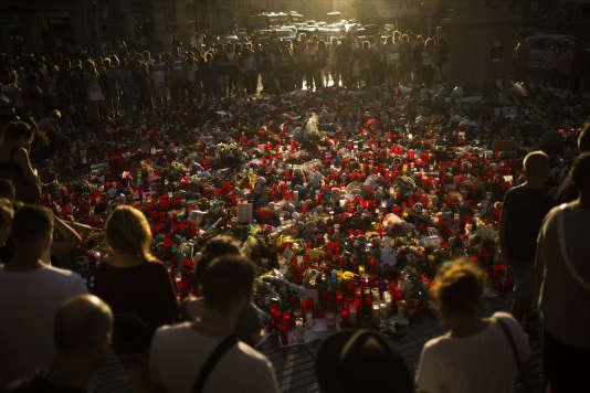 Hommage aux victimes de l'attentat de Barcelone, le 24 août.