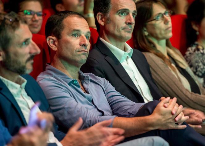 Benoît Hamon assiste à la séance d'ouverture de l'université d'été d'Europe Ecologie, le 24 août à Dunkerque