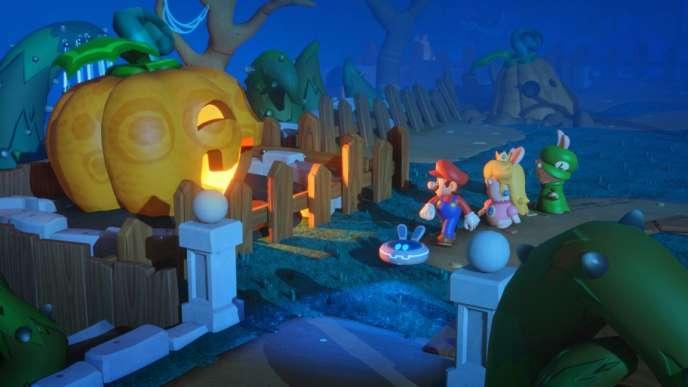 347ac885986 Mario + The Lapins crétins » propose plusieurs environnements vaguement  inspirés de l'univers.