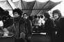 Jimi Hendrix et son groupe aux Puces de Saint-Ouen (Seine-Saint-Denis), en1967.