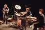 Claude Barthélemy, avec Antonin Rayon et Philippe Gleizes, en concert au festival Jazz Campus en Clunisois, le 22 août.