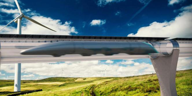 L'hyperloop circulerait en lévitation dans un tunnel, à 1 200 km/heure. Ici celui de l'américain Hyperloop One.