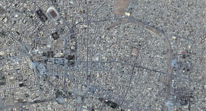 Vue de la vieille ville de Rakka, le 2 juin 2016.