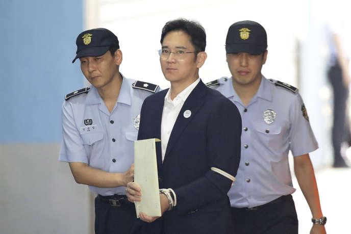 Le vice-président de Samsung Electronics,Lee Jae-yong, le 25 août, à Séoul.