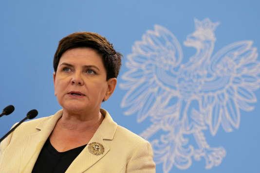 La première ministre polonaise, Beata Szydlo, le 24 août à Varsovie.