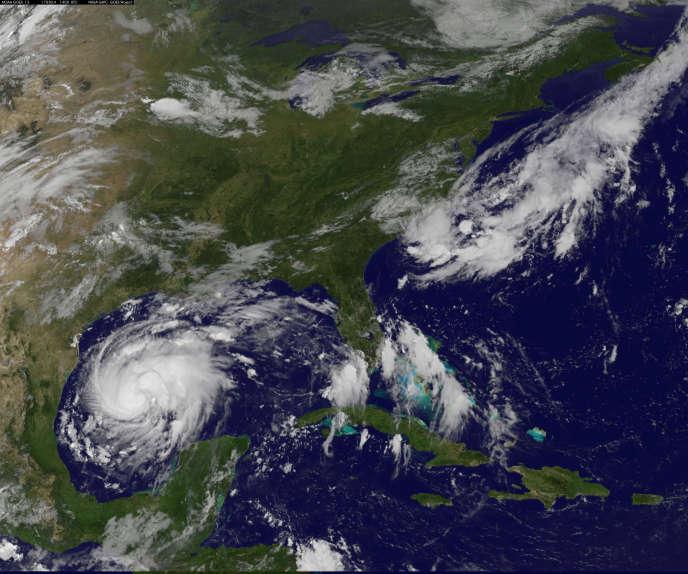 L'ouragan Harvey s'approche des côtes du Texas, le 24 août.