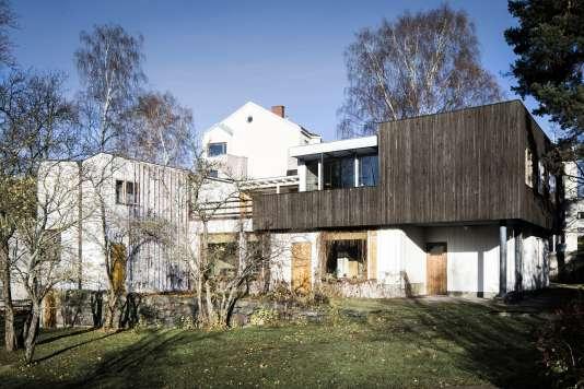 La maison d'Alvar Aaltoet de son épouse Aino, construite en1936 dans le quartier de Munkkiniemi, à Helsinki.