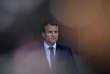 Emmanuel Macron, le 25 avril 2017. Selon Olivier Abel, le président français «voudraitretrouver cette ligne monarchique qui fait partie de la culture française».