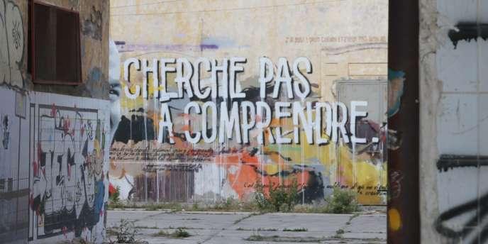 Un mur des anciens abattoirs de Casablanca.