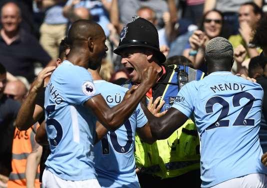 Des joueurs de Manchester City, le 26 août.