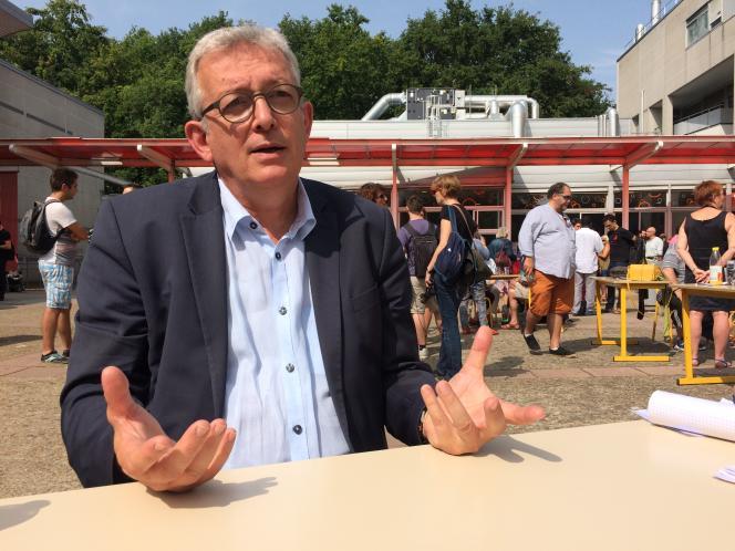Pierre Laurent, secrétaire national du PCF. Le 26 août à Angers.