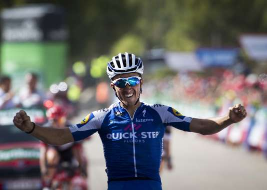 Julian Alaphilippe remporte la 8e étape de la Vuelta, le 26 août.