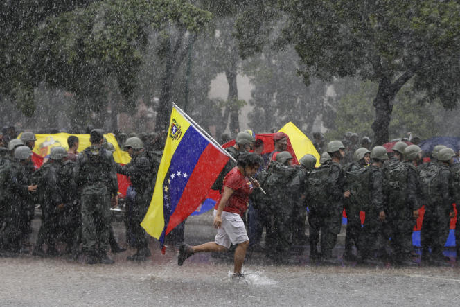 Manifestation à Caracas le 26 août.