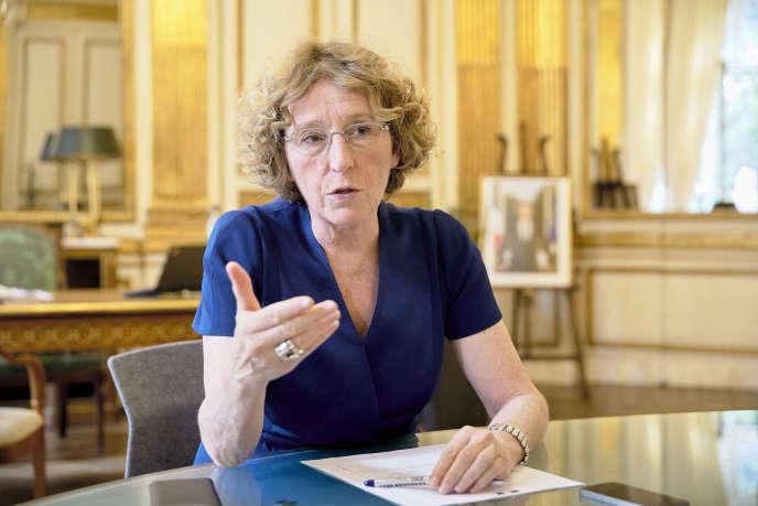 Muriel Pénicaud,au ministère du travail,le 24août.
