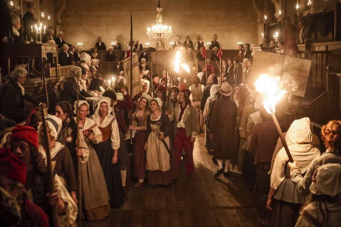 Dans la réplique de la salle du Manège des Tuileries, pendant le tournage d'«Un peuple et son roi», de Pierre Schoeller.