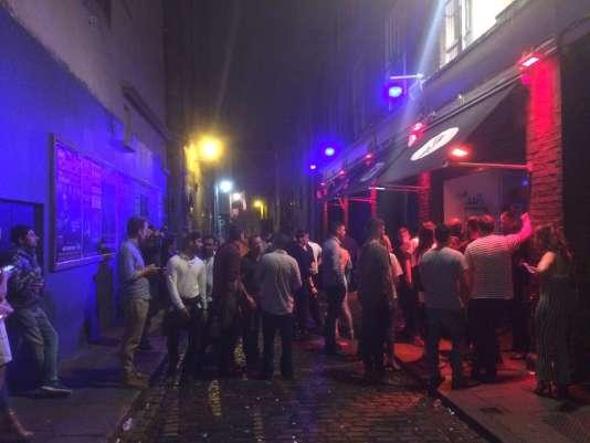 Dans les rues de Temple Bar, à Dublin.