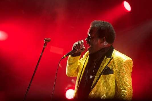 Le chanteur Lee Fields, à Rock en Seine, samedi 26 août, scène Cascade.