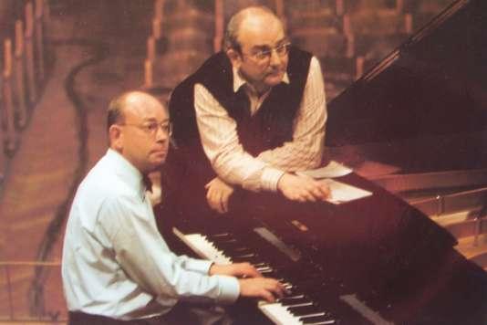 Pochette (détail) de l'un des albums consacrés par les frères Alfons et Aloys Kontarsky à Brahms.