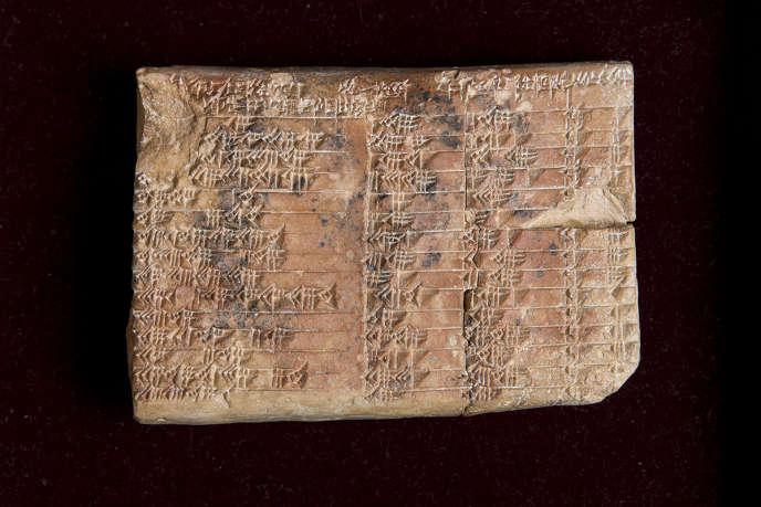 La tablette «Plimpton 322», âgée de 3700ans, est conservée à la Rare Book and Manuscript Libraryde l'université Columbia(New York).