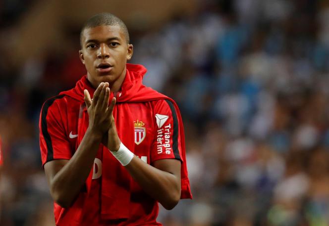 Kylian Mbappé, le 27 août, avant le match Monaco-OM.