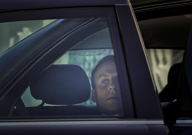 Le président Emmanuel Macron en visite diplomatique à Bucarest (Roumanie), le 24 août.