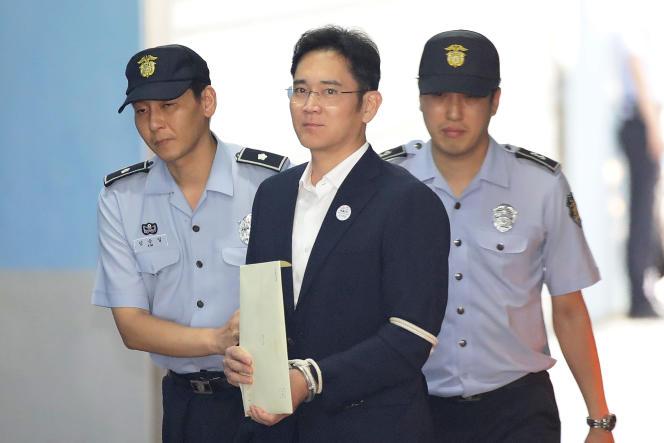 Lee Jae-yong, le patron de Samsung, le 25 août à Séoul.