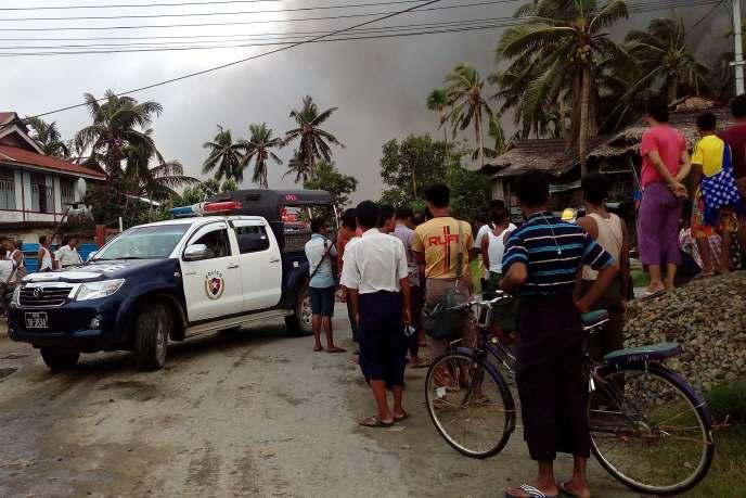 A Maungdaw, dans l'Etat d'Arakan, le 27 août.