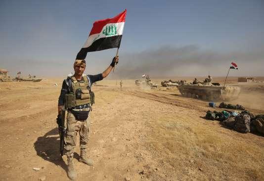 Un membre des forces irakiennes au nord de Tal Afar, le 28 août 2017.