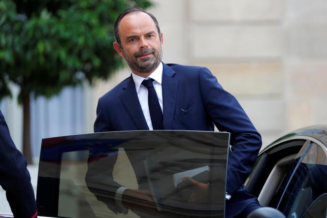 Edouard Philippe, Le premier ministre, à l'Elysée, le 28 août.
