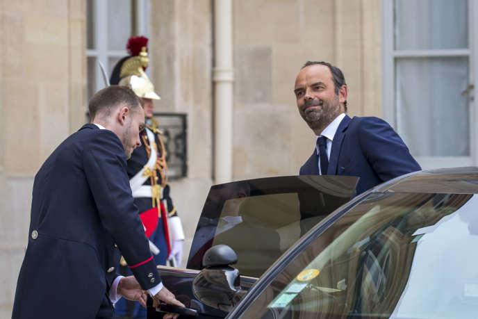 Le premier ministre, Edouard Philippe, à l'Elysée (Paris) le 28 août.