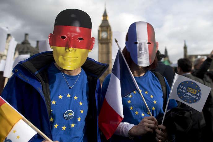 Manifestation pour l'accueil des étrangers, à Londres, le 20 février.
