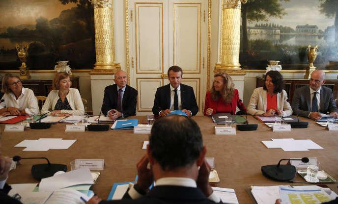 Le gouvernement était réuni à l'Elysée pour un séminaire de rentrée, le 28 août à l'Elysée.