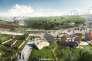 Vue d'artiste du projet Europacity, méga-complexe de loisirs et de commerce porté par le français Auchan et le chinois Wanda qui prévoit la construction d'une gigantesque surface commerciale, ainsi que des hôtels, des salles de spectacle, un parc aquatique au nord de Paris.
