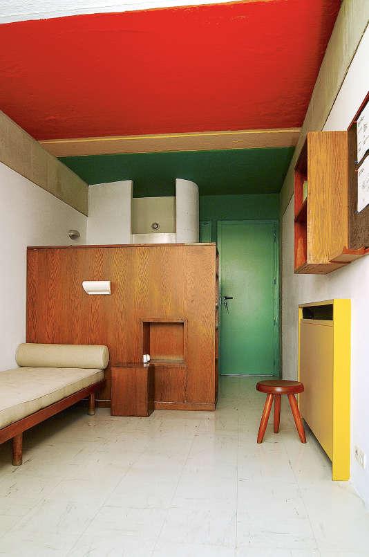 Chambre-témoin du Pavillon du Brésil de la Cité internationale universitaire de Paris, après sa restauration de 1997 à 2000.