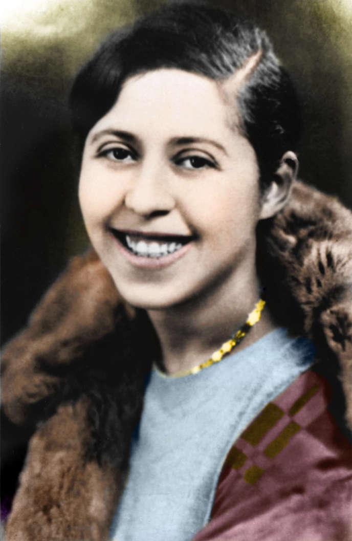 L'écrivaineIrène Némirovsky, portrait colorisé non daté.
